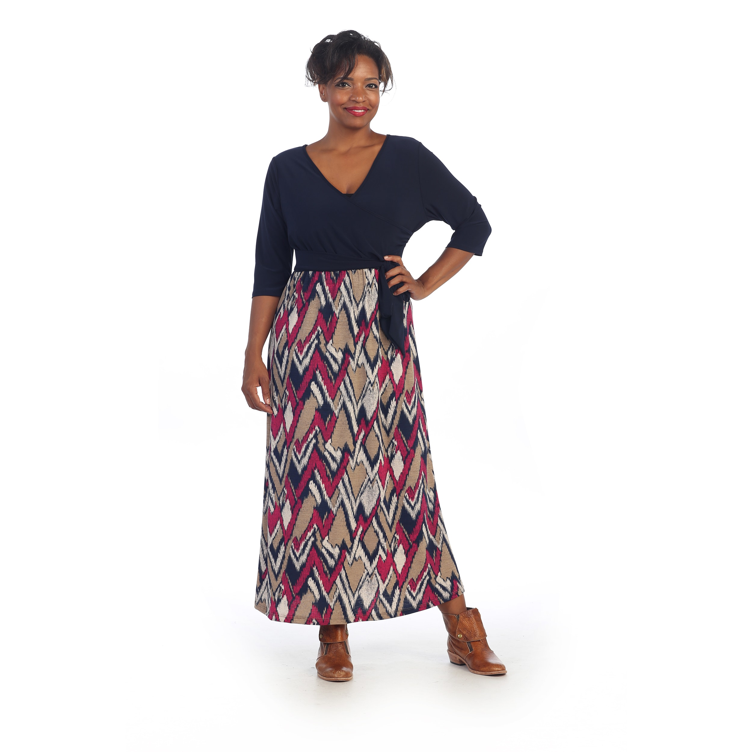 Overstock.com Hadari Women's Plus Size Maxi Dress