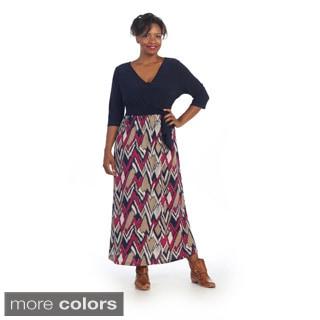 Hadari Women's Plus Size Maxi Dress