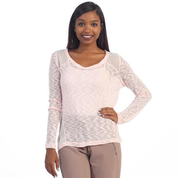 Hadari Women's Sheer Knit Top 14179982