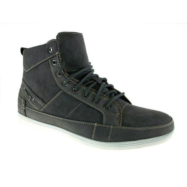 Delli Aldo Men's Grey High Top Sneaker Boots