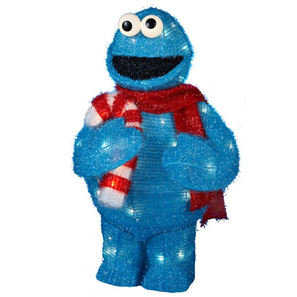 Kurt Adler UL 50-light 28-inch Tinsel Cookie Monster with Package