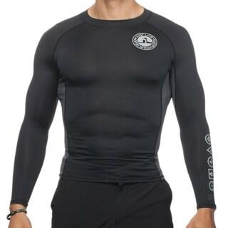 Just Live Men's 'Propel' Black Compression Shirt