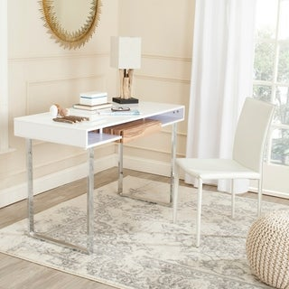 Safavieh Metropolitan White/ Chrome Computer Desk