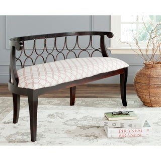 Safavieh Norma Dark Brown/ Trellis Bench