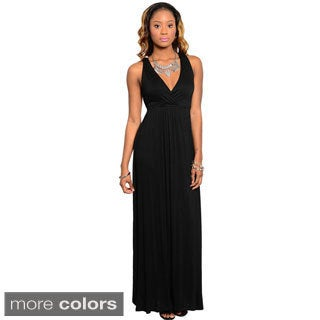 Stanzino Women's Sleeveless Knot-back Maxi Dress