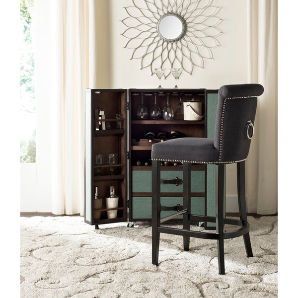 Safavieh Addo Charcoal Ring Bar Stool 16722511