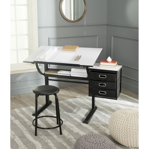 Safavieh Harvard Black/ White Writing Desk