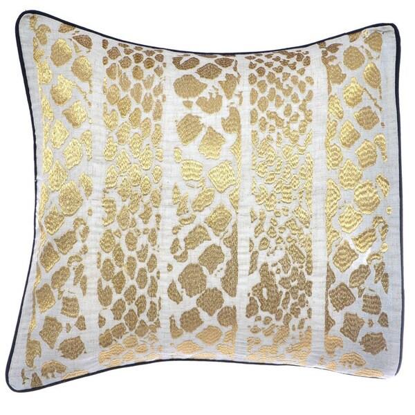 Steve Madden Lani Metallic Skin Decorative Pillow