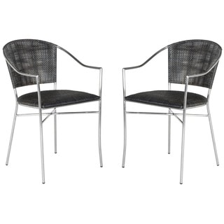Safavieh Melita Black Arm Chair (Set of 2)