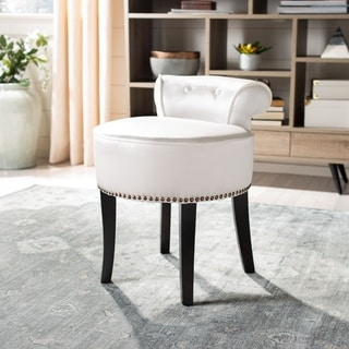 Millani Gray Linen Modern Lounge Stool 14300159