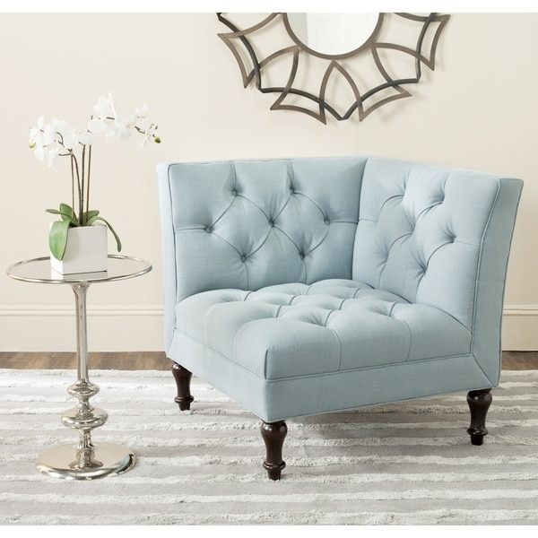 Safavieh Jack Sky Blue Corner Chair