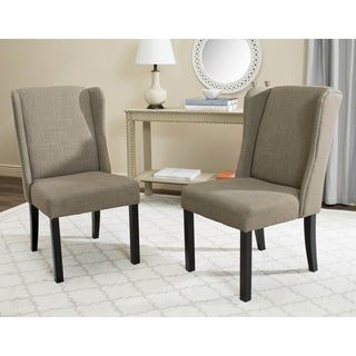 Safavieh Hayden Grey Wingback Chair (Set of 2)