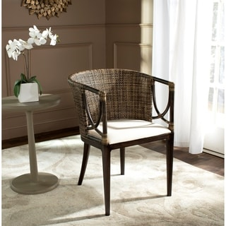 Safavieh Rural Woven Dining Beningo Brown/ Black Arm Chair