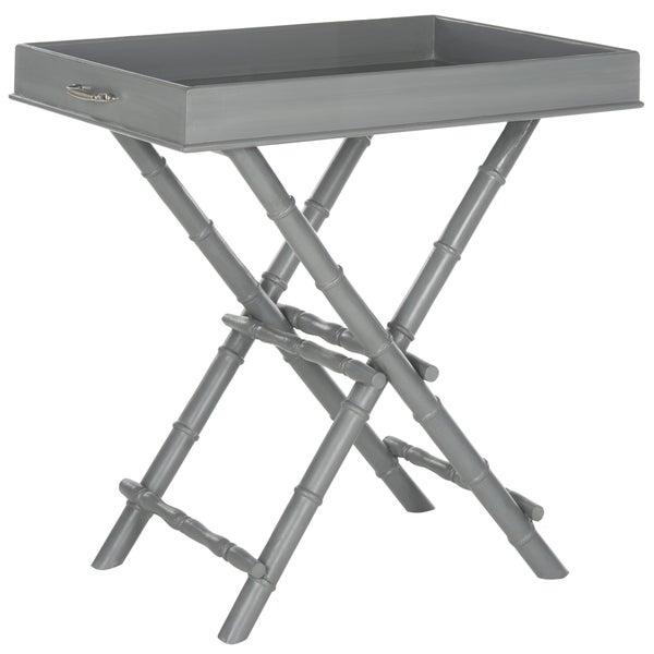 Safavieh Hobson Grey Tray Table 16722634 Overstock Com