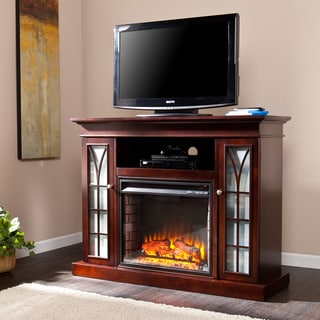 Upton Home Longford Espresso Media Electric Fireplace