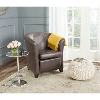 Safavieh Lorraine Antique Brown Tub Chair
