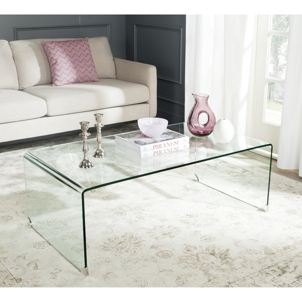 Safavieh willow clear coffee table 16722627 overstock for Overstock acrylic coffee table