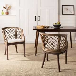 Safavieh Country Classic Dining Carlotta Griege Arm Chair