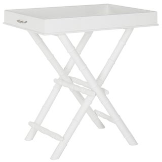 Safavieh Hobson White Tray Table