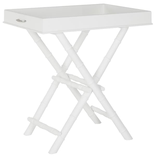 Safavieh Hobson White Tray Table