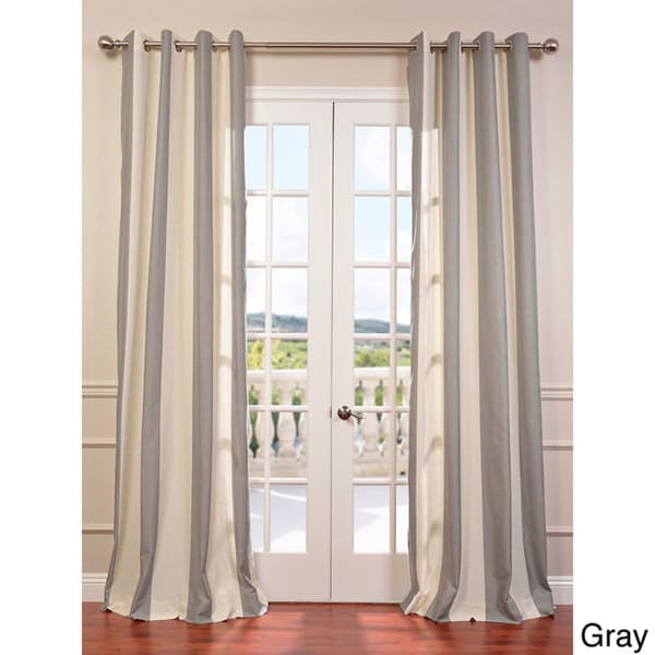 Del Mar Grommet Linen Blend Stripe Curtain