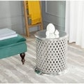 Safavieh Metal Silver Lace Table Stool