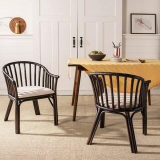 Safavieh Gino Black/ White Cushion Arm Chair