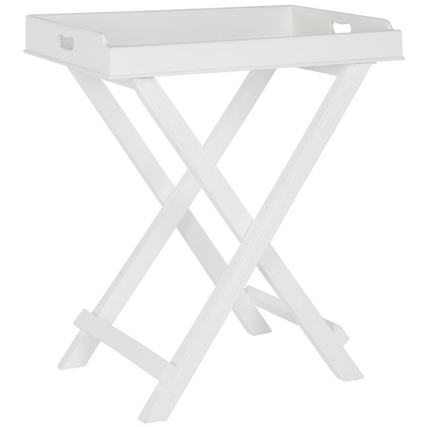 Safavieh Coleman White Tray Table