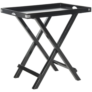 Safavieh Belvedere Black Tray Table