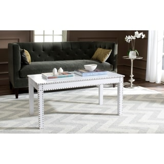 Safavieh Crispis White Croc Coffee Table