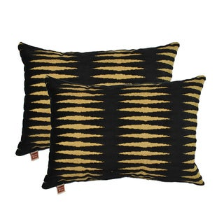 Sherry Kline Golden Gate Black Luxury Boudoir Pillows (Set of 2)