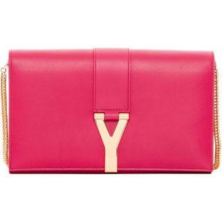 Saint Laurent 'Y Ligne' Pink Leather Shoulder Bag