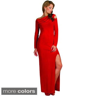 Kayla Collection Women's Long Sleeve Straight Gown