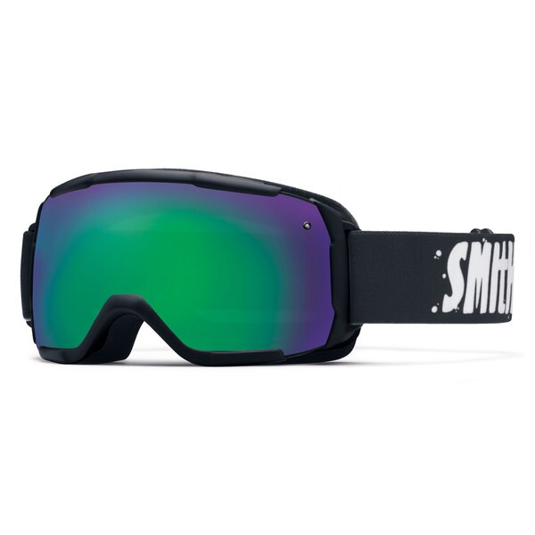 Smith Optics 2015 Grom Kid's Black/ Green Sol-X Goggles