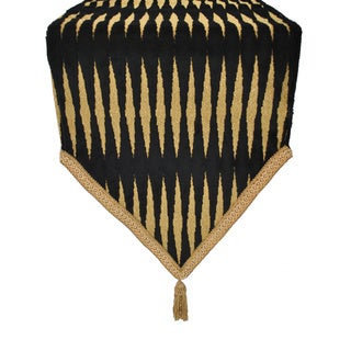 Sherry Kline Golden Gate Black Luxury Table Runner