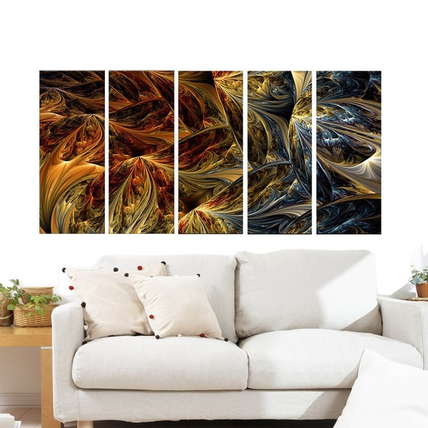 Large Abstract 'Red vs. Blue' Multipanel Canvas Print Art 14181234