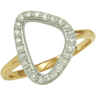 14k Two-tone Gold 1/4ct TDW Diamond Irregular Shaped Geometric Ring (G-H, SI1-SI2)