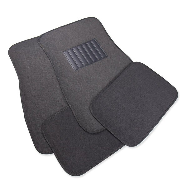Adeco 4-piece Dark Grey Premium Carpet Material Car/ Vehicle Floor Mats