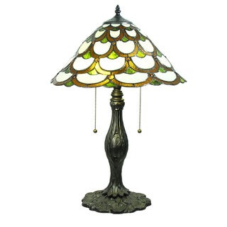 Tiffany-style Trixie Ivory Table Lamp
