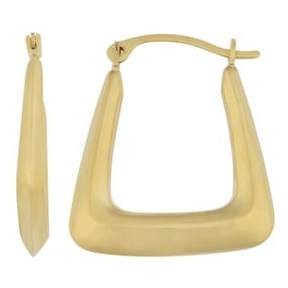 Fremada 14k Yellow Gold Square Hoop Earrings