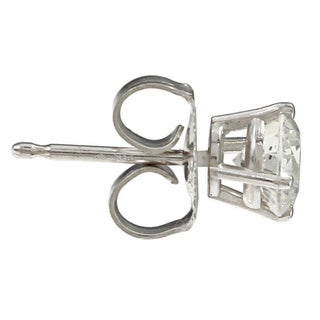 14k White Gold 1ct TDW Clarity-enhanced Diamond Stud Earrings