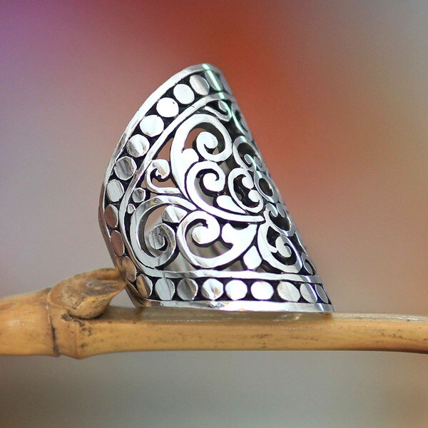 Sterling Silver 'Admiration' Cocktail Ring (Indonesia)