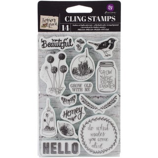 Forever Green Cling Rubber Stamps 4X6in