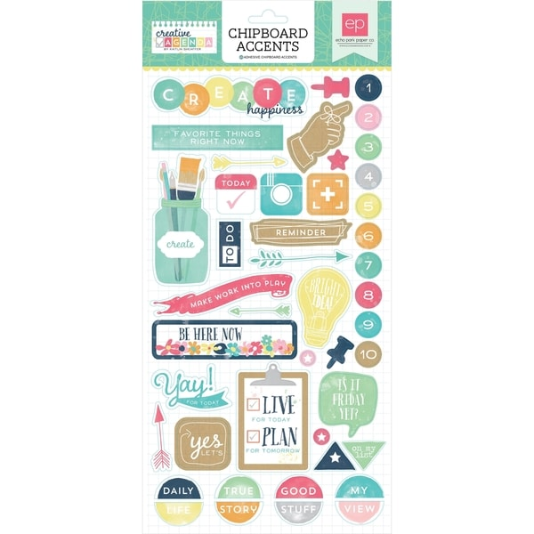 Creative Agenda Chipboard Accents 6X13in