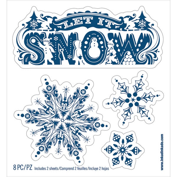 "Wall Decal Small 6""X6.5""-Let It Snow"