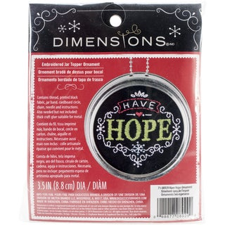 "Have Hope Ornament Stamped Embroidery Kit-3.5"" Diameter"
