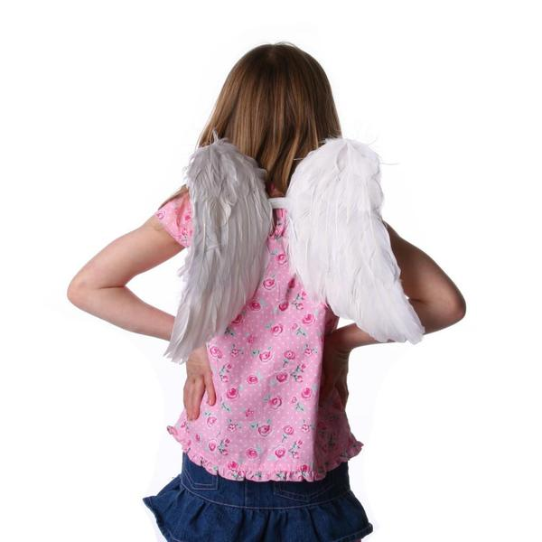 Children's White Angel Wing Costume Set