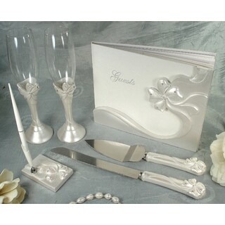D'Lusso Designs Bow Design Six Piece Bridal Accessory Set