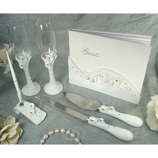 D'Lusso Designs Calla Lilly Design Bridal Accessory Set