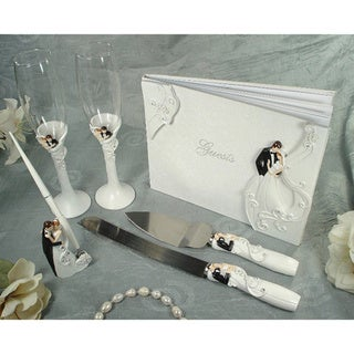 D'Lusso Designs Bride and Groom 4-piece Bridal Accessory Set